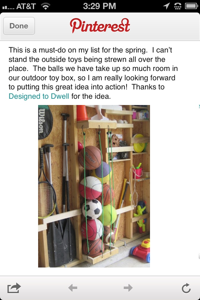 Garage Organization  Use Bungee Cords To Store Balls. Store Balls In Garage  .