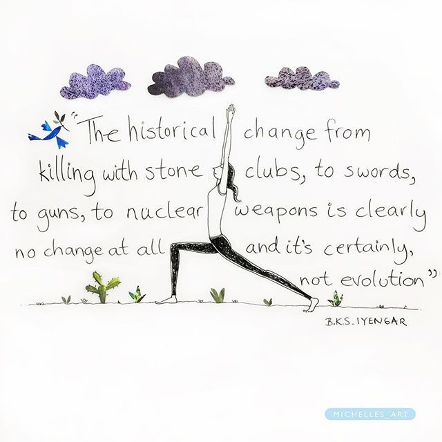 This is not evolution! . . . . . . #present #journey #lightonlife #innerpeace #yoga #iyengaryoga #earth #quotes #wisdom #life #lifequotes #bksiyengar #illustration #picame #drawing #evolution #freedomthinkers #compassion #asana #yogateacher #art #artist #america #yogainspiration