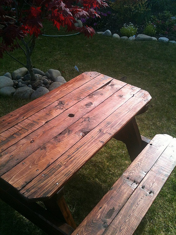 Upcycled Childrens Picnic Table For Sale On Etsy