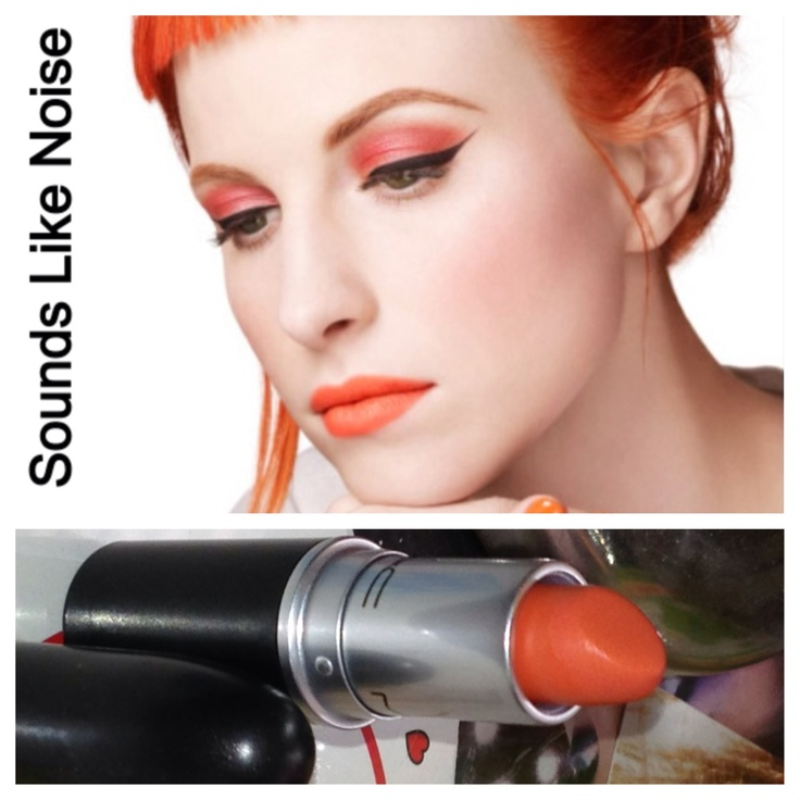 """MAC limited edition lipstick """"sounds like noise""""- Hayley Williams / Paramore ❤❤❤"""