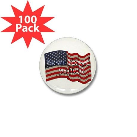 911 Never Forget American F Mini Button (100 Pack)    •   This design is available on t-shirts, hats, mugs, buttons, key chains and much more   •   Please check out our others designs at: www.cafepress.com/ZuzusFunHouse