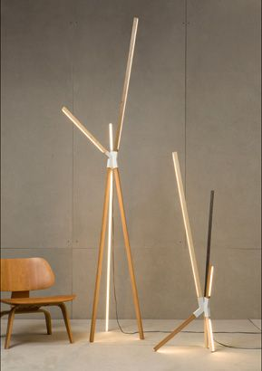 'Stickbulb' floor lamps by Rux