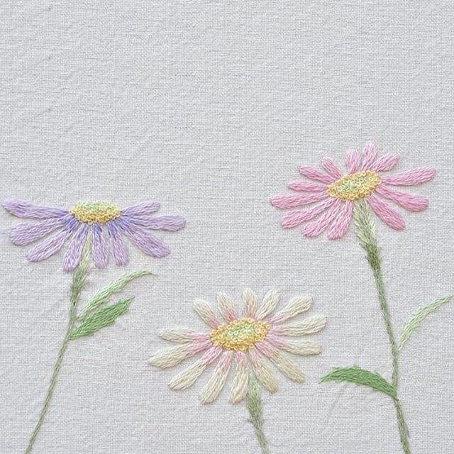 #야생화자수 #단양쑥부쟁이 #쑥부쟁이 #꿈소 #꿈을짓는바느질공작소 #embroidery #aster #chrysanthemum
