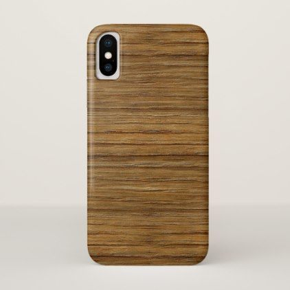 The Look of Driftwood Oak Wood Grain Texture iPhone X Case - rustic style country natural diy customize personalize