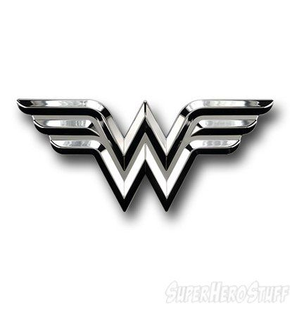 Wonder Woman Car Emblem.  I must have this!  I would be perfect next to my Spaghetti Monster!