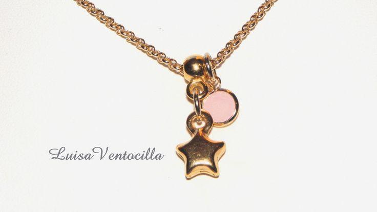 Schöne zarte Halskette mit  3D Stern von Luisa Ventocilla Shop auf DaWanda.com