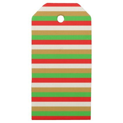 Tajikistan flag stripes wooden gift tags - patterns pattern special unique design gift idea diy