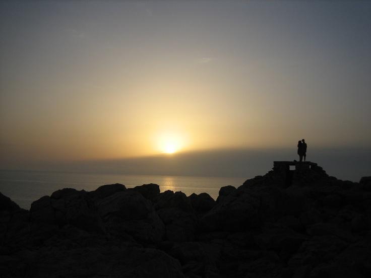 Dawn at Punta Prima, Menorca, Spain
