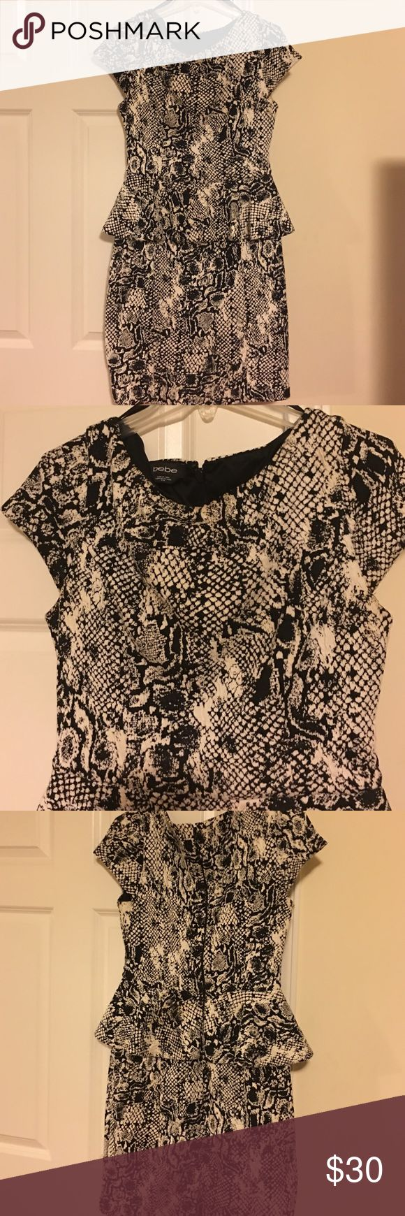 Bebe Dress Python Print Peplin Dress Python Peplin Dress bebe Dresses