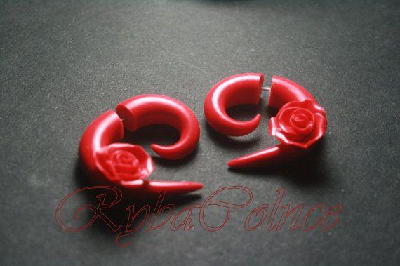 Fake ear gauge / Faux gauge/Gauge earrings / fake by RybaColnce, $18.18
