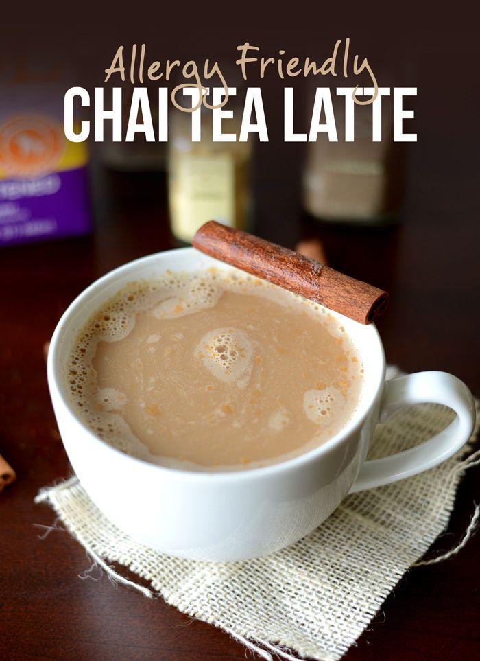 allergy friendly chai tea latte happy 3rd bday fff recette b euvages pinterest boissons. Black Bedroom Furniture Sets. Home Design Ideas