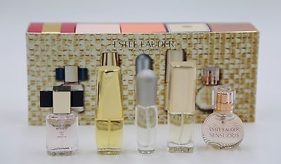 ESTEE LAUDER TRAVEL EXCLUSIVE THE FRAGRANCE COLLECTION 5 PERFUME GIFT SET NIB