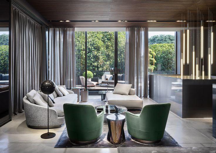 "Grand Jacques sofa and Jacques ""high"" armchair, Rodolfo Dordoni design."