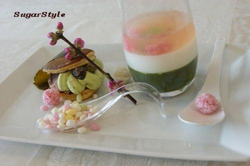 ひな祭りゼリー 桜餡&抹茶クリームのどら焼き