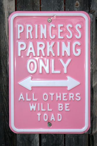 FUNNY PARKING SIGN POSTER Princess Parking Only RARE HOT NEW 24x36-YW9 Brand New. 24x36 inches. Will ship in a tube. - Multiple item purchases are combined the next day and get a discount for domestic