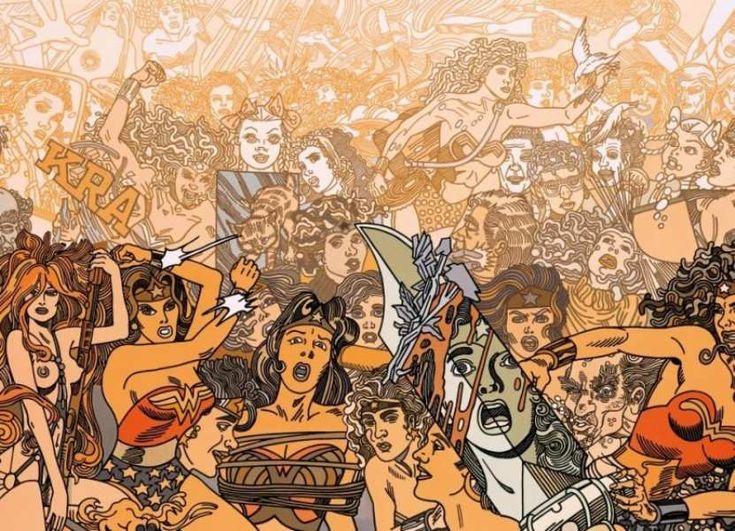 ERRÓ: AMERICAN COMICS http://www.widewalls.ch/erro-exhibition-hilger-mana-contemporary/ #GudmundurGudmundsson #Erró #comics #contemporaryart #collage #paintings #GalerieErnstHilger #ManaContemporary #ManaFine Arts #AmericanComics #exhibition