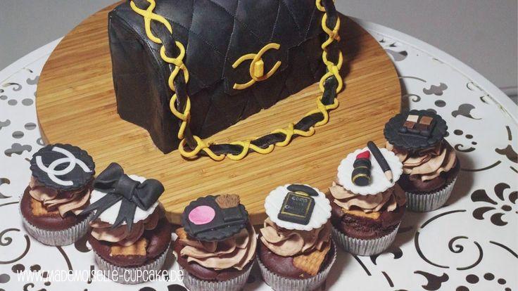 Chanel Handtasche - Torte und Cupcakes dekorieren mit Fondant - Mademois...