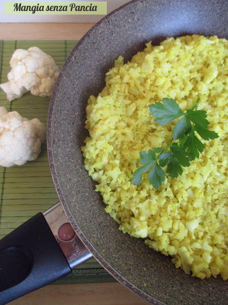 Finto riso di cavolfiore al curry - Mangia senza Pancia