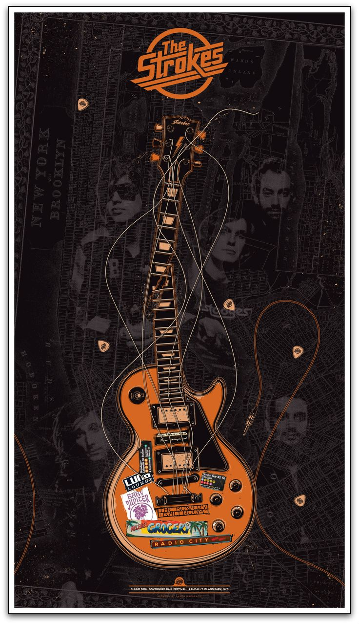 """The Strokes - New York, NY 2016"" by Aaron Mackenzie. 20"" x 28"" Giclee. Ed of 195. $25 More"
