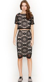 Women's Skirts   Lucette Lace Skirt   HONEY & BEAU