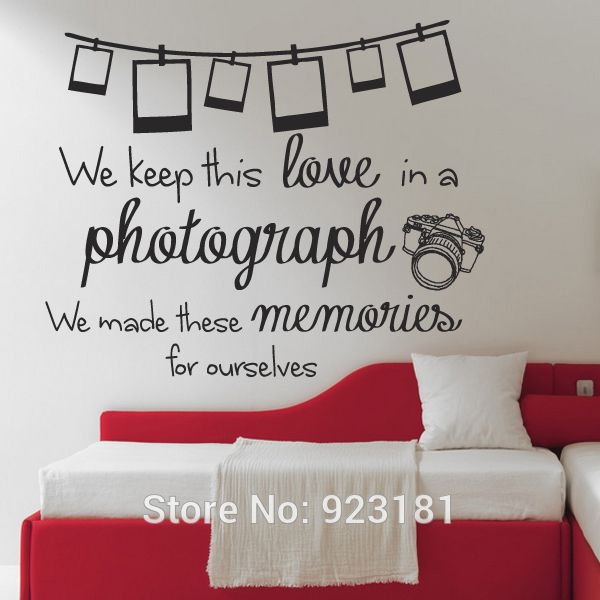 Ed Sheeran Photograph Lyrics Quote Wall Art Sticker Wall Decals Home DIY  Decoration Wall Mural Removable Bedroom Wall Stickers. Best 25  Bedroom wall stickers ideas on Pinterest   Wall stickers