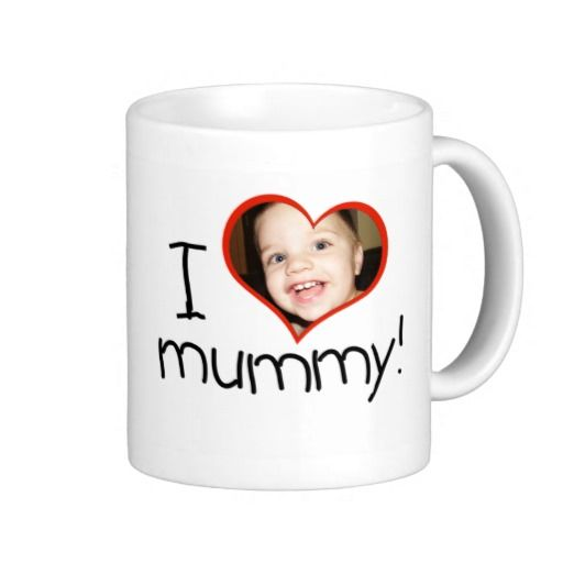 "Personalised ""I *heart* mummy"" mug"