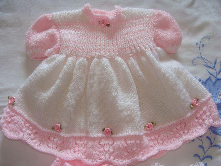 Layette bébé rob cexplicatipn eulotte, chaussons, blanc et rose : Mode Bébé par danielaine-tricots-enfants