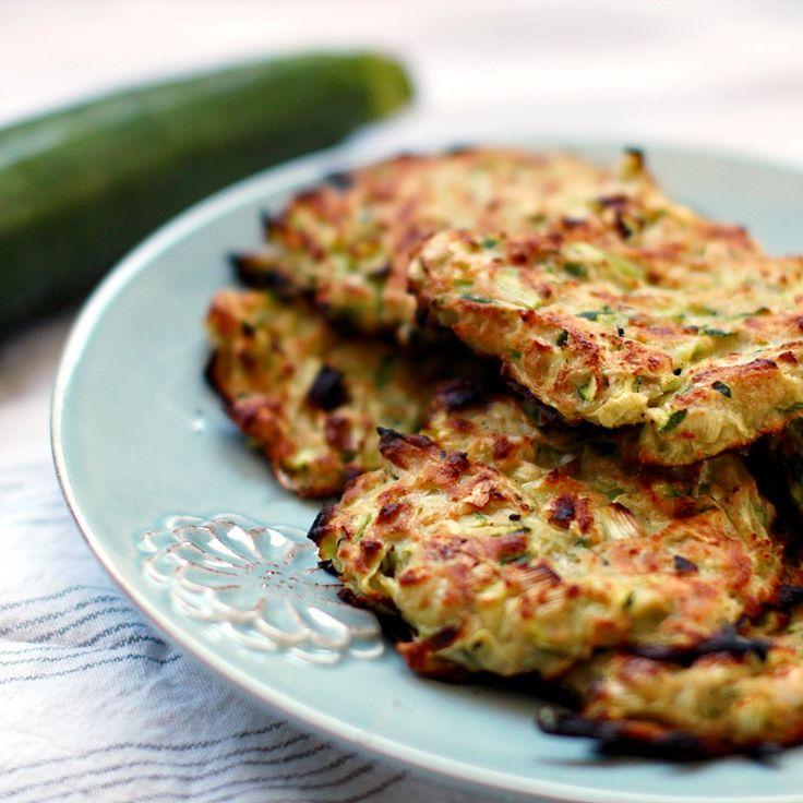 Baked zucchini  feta fritters