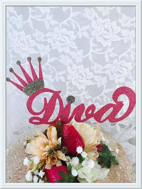 Diva Cake Topper - Diva Party Decorations - Diva Party Decor - Diva Birthday Party Cake Topper - Princess Diva Birthday Party Cake Topper