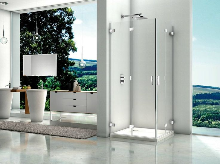 doccia glass doors by archiproducts. seemless and minimal metal detail with glass covered hinges