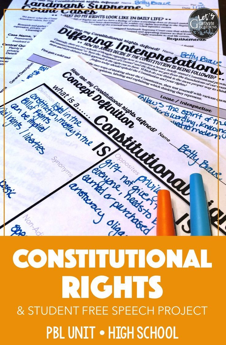 Cover The Supreme Court Bill Of Rights And Landmark Court Cases In This Complete Pbl Unit That Chal Teaching Government Classroom Constitution Teaching Teens