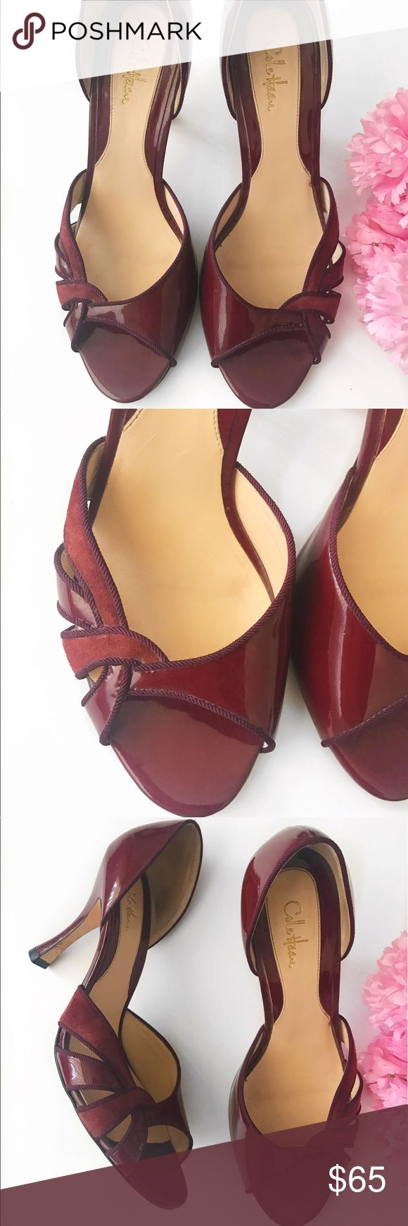 Cole Haan Red Peep Toe Heels Cole Haan Red Peep Toe Heels, good condition 🛍❤️ Cole Haan Shoes Heels