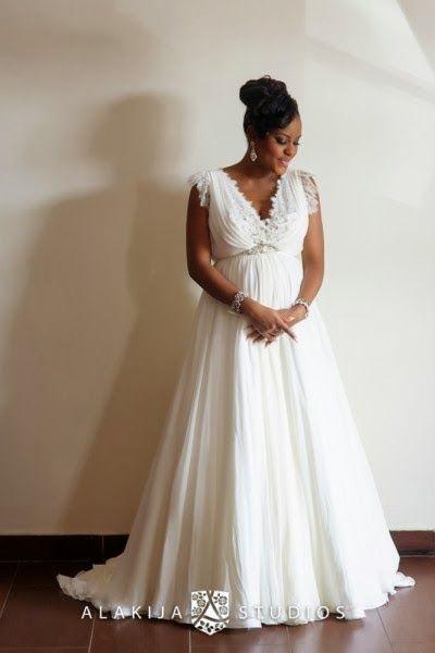 14 best images about pregnant bride on pinterest black for Best wedding dresses for pregnant brides