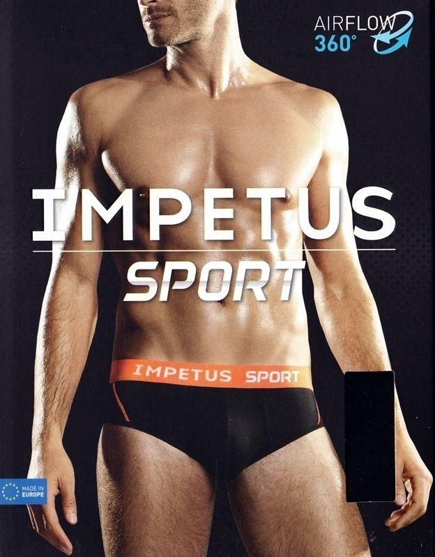 Slip Impetus Sport en negro con goma vista en naranja fosforito. Favorece la evaporación y aleja la humedad. Propiedades antibacterianas. #calzoncillos #impetus #menswear #mensunderwear #ropainterior #modahombre