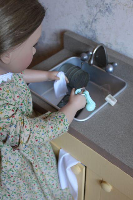 Kitchen DIY Tutorial American Girl Doll! Super cute