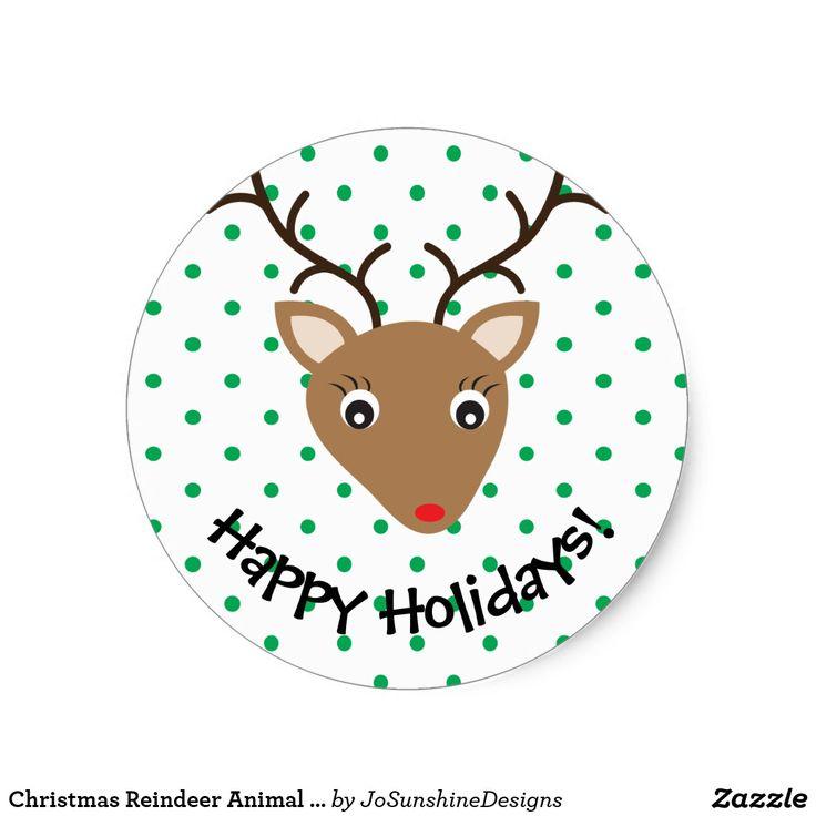 Christmas Reindeer Animal Woodland Face Dots