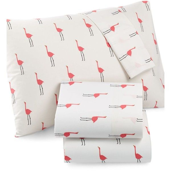 Whim by Martha Stewart Collection Novelty Print California King 4-pc... ($66) ❤ liked on Polyvore featuring flamingo
