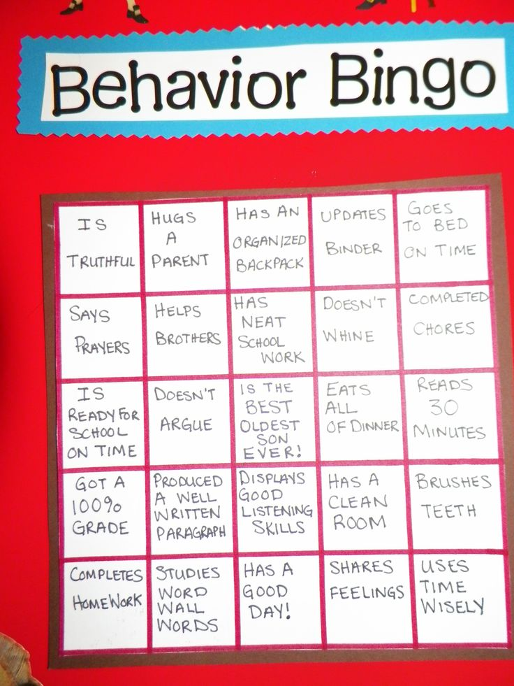 my 8 year old 39 s behavior chart each space is worth 5. Black Bedroom Furniture Sets. Home Design Ideas