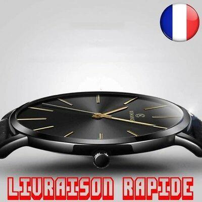 Montre Top Marque Luxe Ultra-mince Bracelet Homme Femme Horloge Bijoux Mince