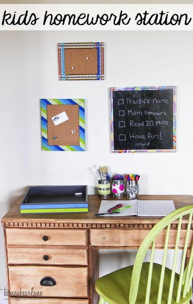 kids homework station | Home Projects | DIY Projects | Home Updates