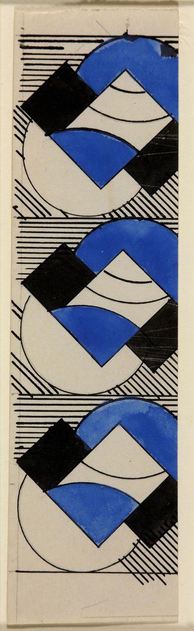"""Popova Liubov, """"Design for embroidered book cover"""" (c. 1923-1924)"""