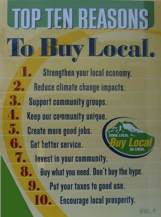 buy localLocal Food, Tops 10, 10 Reasons, Small Business, Buy Local, Blog, People, Climate Change, Comforters Food