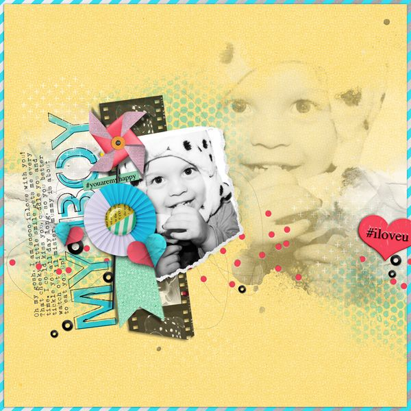 Gesso Goodness Vol.2 Paint Textures for Digital Scrapbooking by The Nifty Pixel