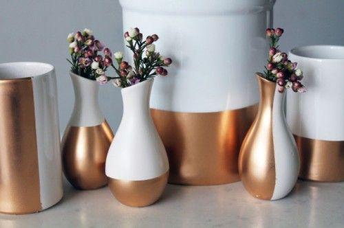 Easy DIY: Gold dipped ceramics