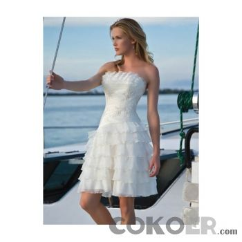 Korta-Brudklänningar-organza-axelbandslös-halsen-med-en-linje-sommar-kort-bröllopsklänningar