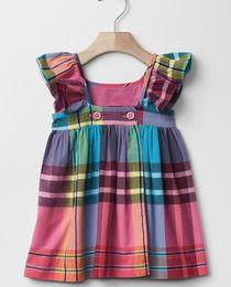 Vestido de bebé niña Gap con cuadros