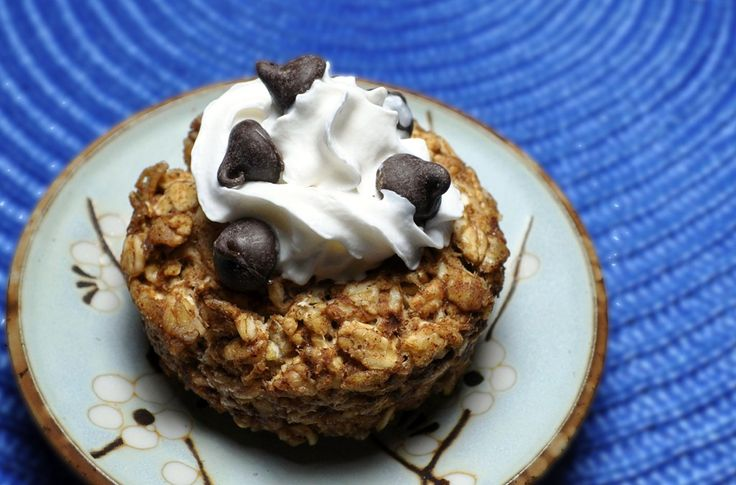 Baked Oatmeal Cakes *Made for dinner - delish!! Used peanut butter and mashed bananas*