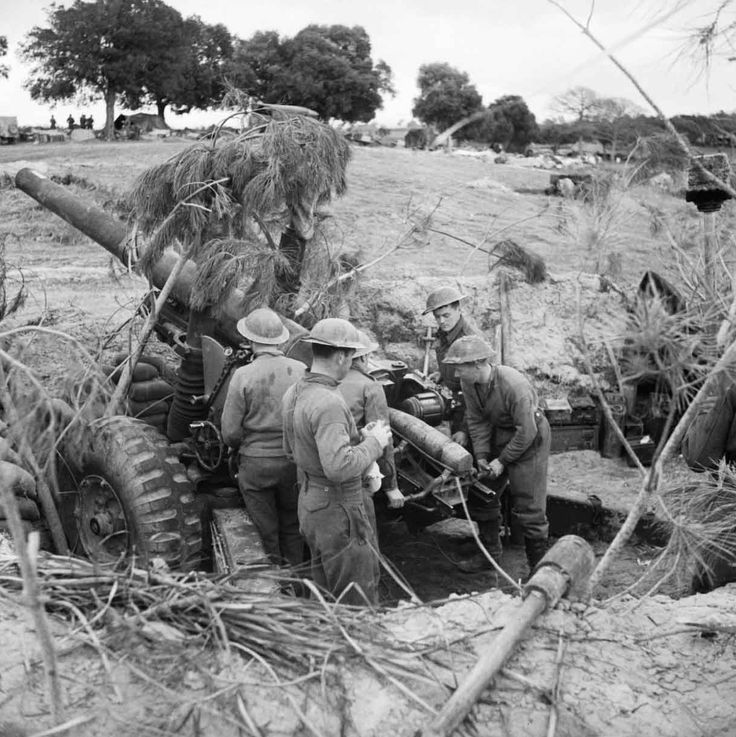 80th Medium Regiment (Scottish Horse) in action at Anzio - pin by Paolo Marzioli