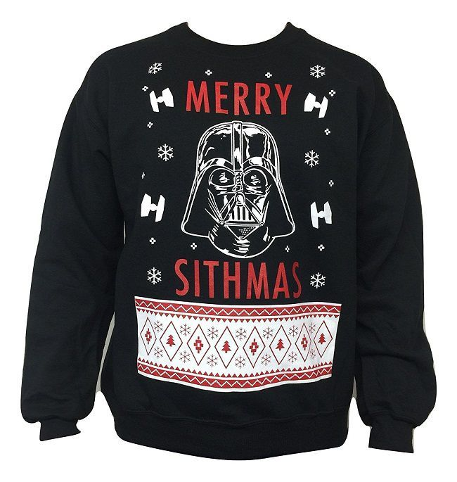 Star Wars Men s Merry Sithmas Ugly Christmas Sweater Pull De Noël Moche 3a1e4a2da50