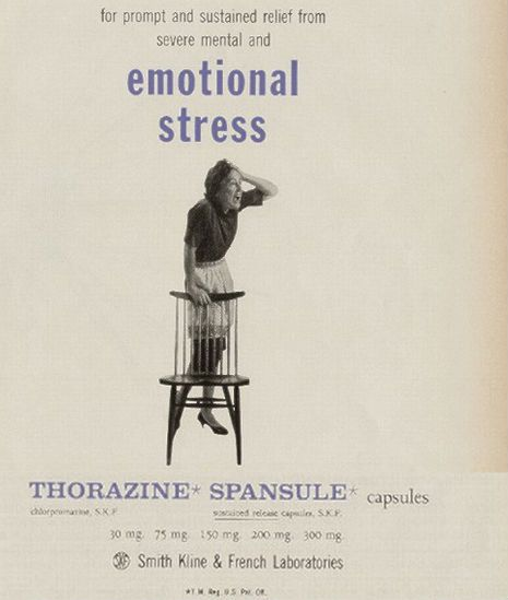 Thorazine ads from the 1950s.